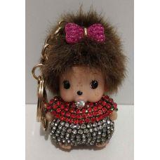 Брелок-кукла со стразами (с розовым бантиком) 17-02-025