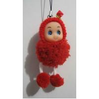 Красивый брелок кукла-балабон (красная) 17-7-114
