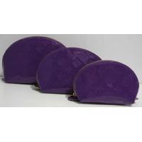 Лаковая косметичка 3в1  (фиолетовая )17-3-074