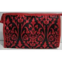 Женская вместительная косметичка (красная)17-3-075
