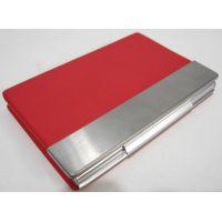 Каркасная металлическая визитница (красная) 16-09-014