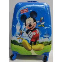 Детский дорожный пластиковый чемодан Микки (синий) 19-03-033