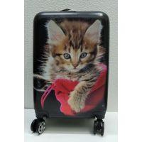 Дорожный пластиковый чемодан (маленький) 21-08-018
