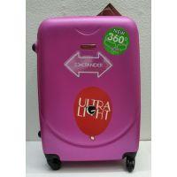 Дорожный пластиковый чемодан CRAVITT средний (малиновый)  21-08-030