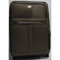 Дорожный тканевый чемодан (средний-коричневый) 19-03-019
