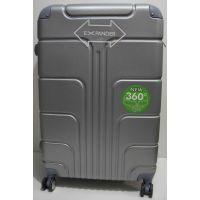 Дорожный пластиковый чемодан (большой-металлик) 19-03-024