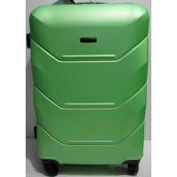 Дорожный пластиковый чемодан (большой-салатовый) 19-03-030