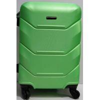 Дорожный пластиковый чемодан (средний-салатовый) 19-03-031