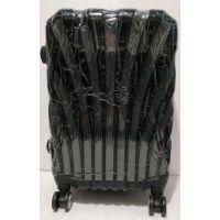 Дорожный пластиковый чемодан (маленький чёрный ) 19-05-094