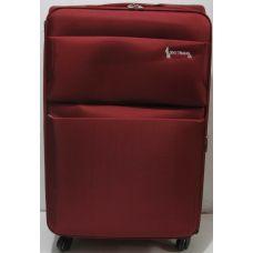Дорожный тканевый чемодан  ( красный большой) 19-06-028