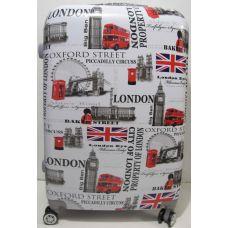 Дорожный пластиковый чемодан (большой - London) 19-06-033