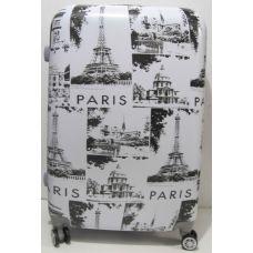 Дорожный пластиковый чемодан (большой - Paris ) 19-06-033