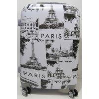 Дорожный пластиковый чемодан (средний - Paris ) 19-06-034