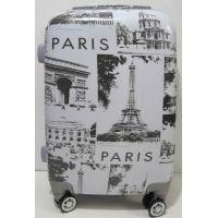 Дорожный пластиковый чемодан (маленький - Paris ) 19-06-035