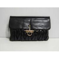 Стёганый клатч Mio Mio (чёрный) 16-11-025