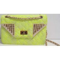 Женская сумка-клатч с кружевом (салатовая) 17-1-039