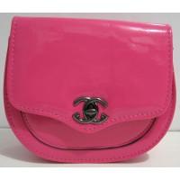 Небольшой лаковый клатчик (розовый) 17-4-013