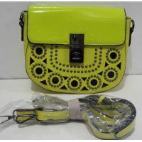 Женский стильный клатч с перфорацией (жёлтый) 18-02-046