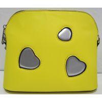 Стильный клатч с сердечками (жёлтый) 18-03-045