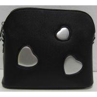 Стильный клатч с сердечками (чёрный) 18-03-045