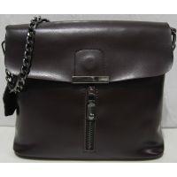 Женский кожаный клатч (шоколадный) 18-06-150