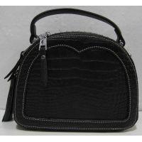Женский стильный кожаный клатч (чёрный) 19-02-010