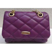 Женский небольшой стёганый клатчик (фиолетовый) 21-04-004