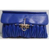 Женский стёганый клатч (синий) 16-11-025
