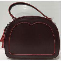 Женский кожаный клатч (бордовый) 20-07-001