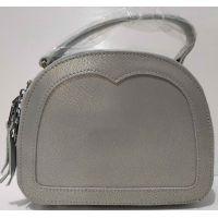 Женский кожаный клатч (серый) 20-07-001