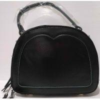 Женский кожаный клатч (чёрный) 20-07-001