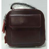 Женский кожаный клатч (бордовый) 20-07-002