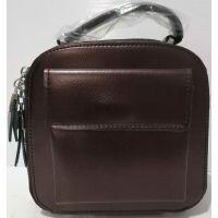 Женский кожаный клатч (шоколадный)  20-07-002