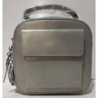 Женский кожаный клатч (серый) 20-07-002