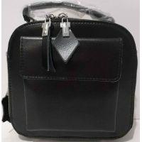 Женский кожаный клатч (чёрный) 20-07-002