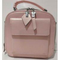 Женский кожаный клатч (розовый) 20-07-002