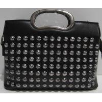 Женская стильная сумочка-клатч (чёрная) 19-03-043