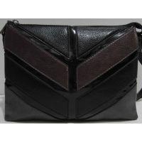 Женский комбинированный клатч (чёрный) 19-03-055