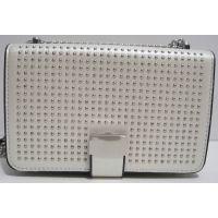 Женский клатч с заклёпками (белый) 19-03-058