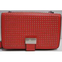 Женский клатч с заклёпками (красный) 19-03-058