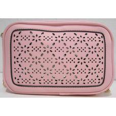 Женский клатч с перфорацией (розовый) 19-06-024