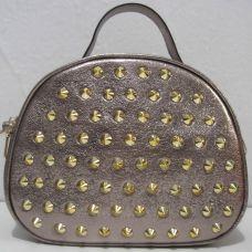 Женский клатч с шипами  (бронзовый)19-06-025