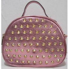 Женский клатч с шипами  (розовый)19-06-025