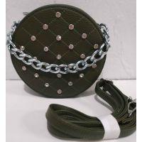 Женский клатч-таблетка со стразами (зелёный) 19-08-069