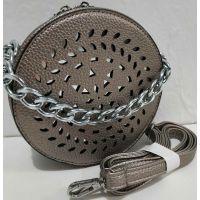 Женский клатч-таблетка с перфорацией (бронзовый) 19-08-070