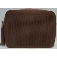 Женский стильный клатч (коричневый) 19-08-088