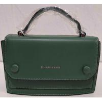 Женский стильный клатч (зелёный) 20-01-015