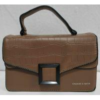Женский стильный клатч (коричневый) 20-01-017