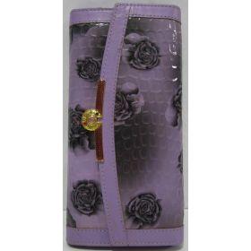 Женский комбинированный кошелёк-визитница (сиреневый) 17-07-131