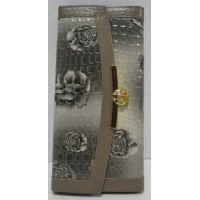 Женский комбинированный кошелёк-визитница (серый) 17-7-131